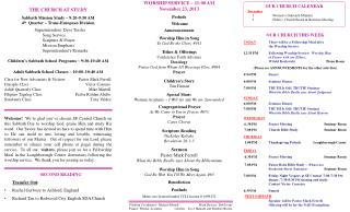 THE CHURCH AT STUDY Sabbath Mission Study ~ 9:20-9:50 AM 4 th   Quarter ~ Trans-European Division