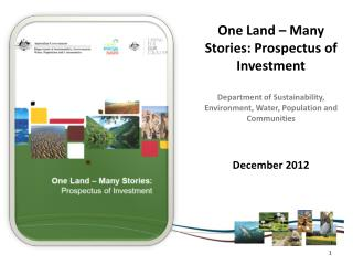 One Land – Many Stories: Prospectus of Investment
