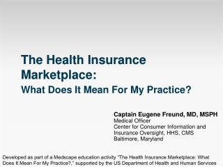 The Health Insurance Marketplace: