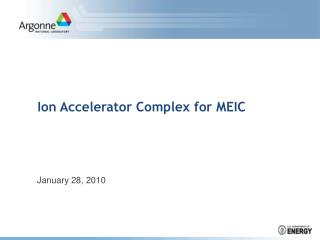 Ion Accelerator Complex for MEIC