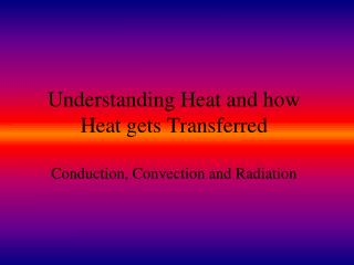 Understanding Heat and how Heat gets Transferred  Conduction, Convection and Radiation