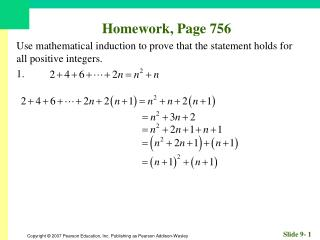 Homework, Page 756
