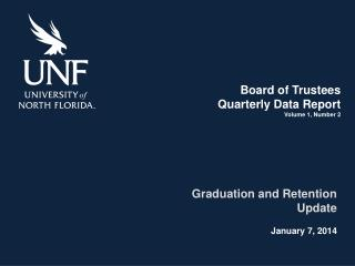 Board of  Trustees Quarterly Data Report Volume 1, Number 2