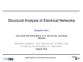 Structural Analysis of Electrical Networks