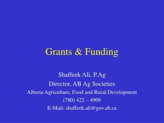 Grants & Funding