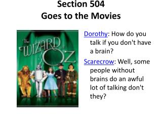 Section 504 Goes to the Movies