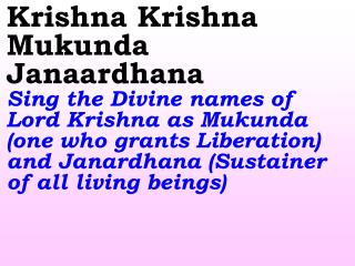 Old 660_New 789 Krishna Krishna Mukunda Janaardhana