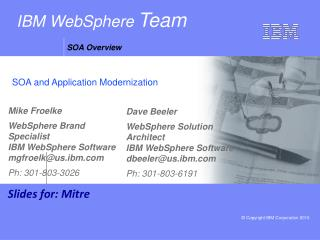 IBM WebSphere  Team