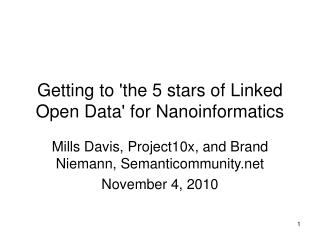Getting to the 5 stars of Linked Open Data for Nanoinformatics
