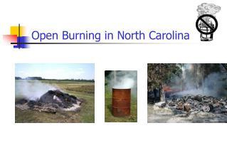 Open Burning in North Carolina