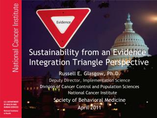 Sustainability from an Evidence Integration Triangle Perspective