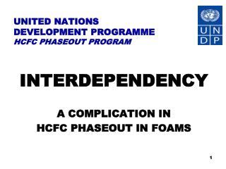 UNITED NATIONS  DEVELOPMENT PROGRAMME HCFC PHASEOUT PROGRAM