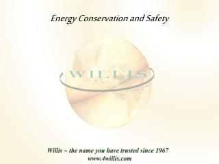 Energy Conservation and Safety