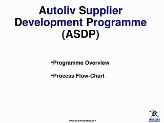 Autoliv Supplier Development Programme ASDP