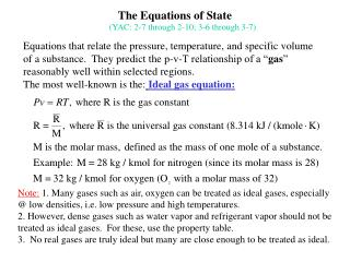 The Equations of State