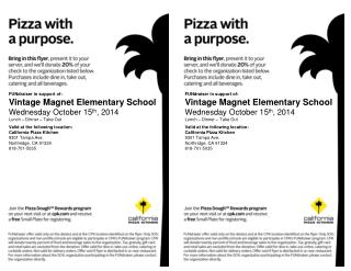Valid at the following location: California Pizza Kitchen 9301 Tampa Ave.