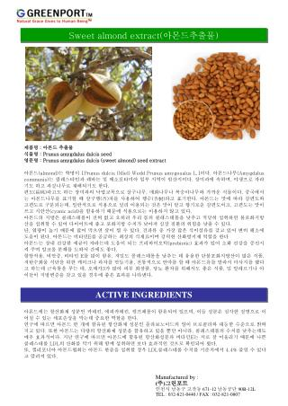 Sweet almond extract( 아몬드추출물 )