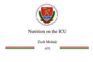 Nutrition on the ICU Zsolt Molnár AITI