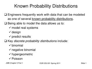 Known Probability Distributions