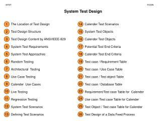 System Test Design
