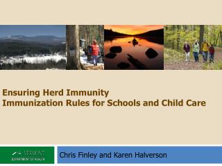Ensuring Herd Immunity Immunization Rules for Schools and Child Care
