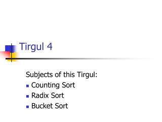 Tirgul 4