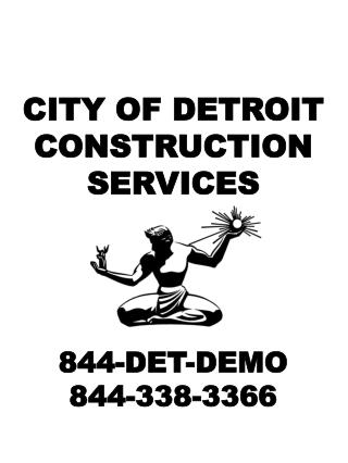 CITY OF DETROIT CONSTRUCTION SERVICES