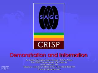 Demonstration and Information