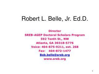 Robert L. Belle, Jr. Ed.D.