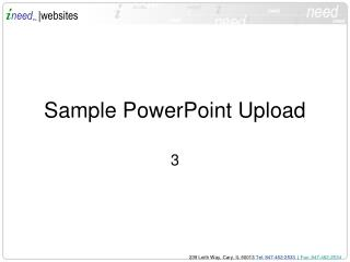Sample PowerPoint Upload