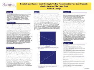 Psychological Factors Contributing to College Adjustment in First Year Students