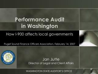 Performance Audit  in Washington