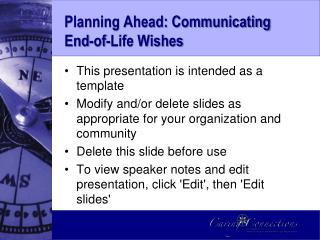 Planning Ahead: Communicating End-of-Life Wishes