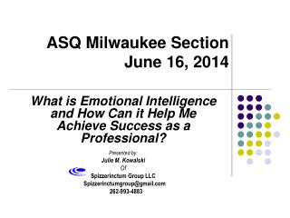 ASQ Milwaukee Section  June 16, 2014