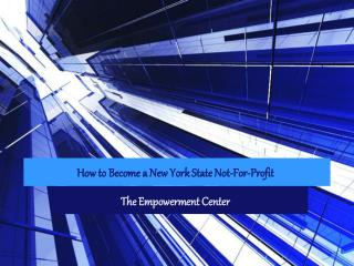 How to Become a New York State Not-For-Profit