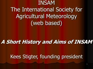INSAM The International Society for Agricultural Meteorology (web based)