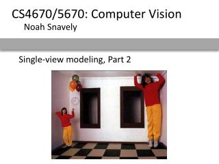Single-view modeling, Part 2