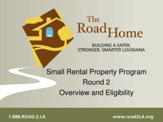 Small Rental Property Program  Round 2 Overview and Eligibility
