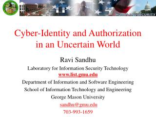 Cyber-Identity and Authorization in an Uncertain World