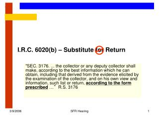 I.R.C. 6020(b) – Substitute for Return