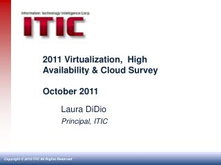 2011 Virtualization,  High Availability & Cloud Survey October 2011