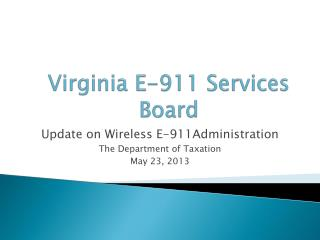 Virginia E-911 Services Board