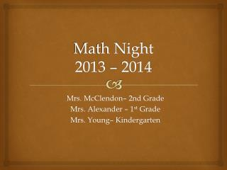 Math Night 2013 – 2014