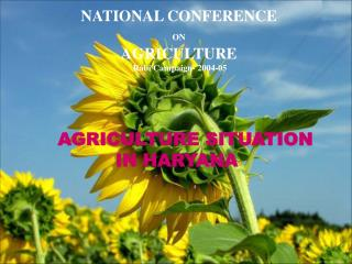 NATIONAL CONFERENCE  ON AGRICULTURE  Rabi Campaign- 2004-05