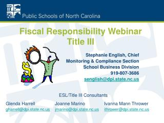Fiscal Responsibility Webinar Title III