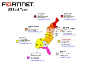 Marc Gibson  TN, AL, MS, WV Mid-Enterprise AM 404-862-1101 C mgibson@fortinet