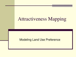 Attractiveness Mapping