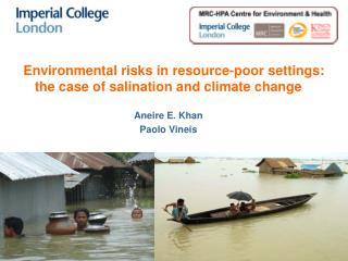 Environmental risks in resource-poor settings: the case of salination and climate change