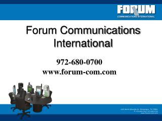 Forum Communications International