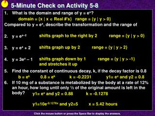 5-Minute Check on Activity  5-8
